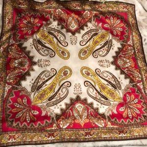 Talbots ornate paisley silk scarf